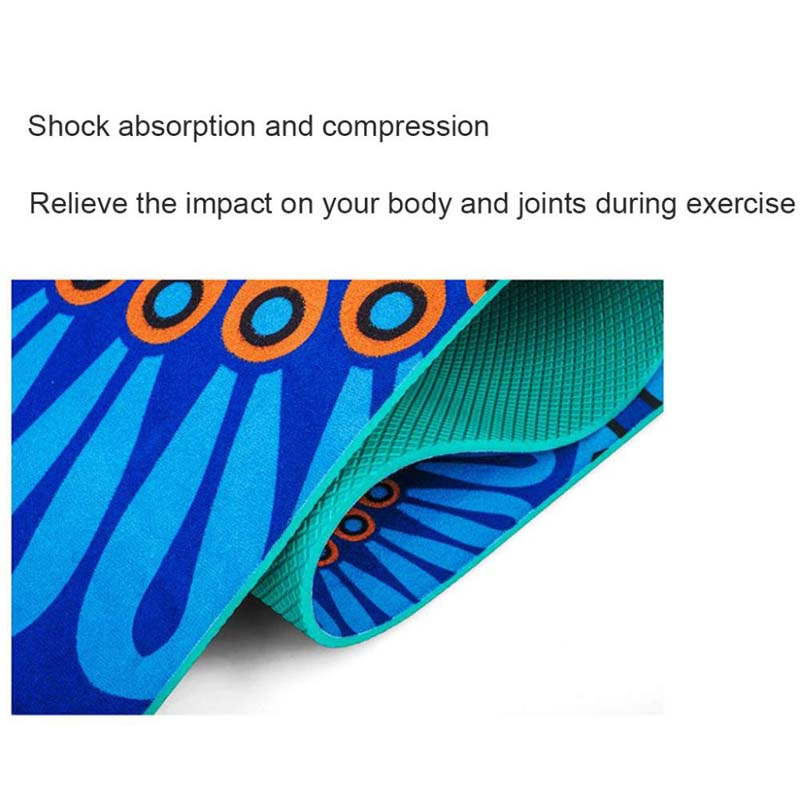 Non Slip Slimming 5MM Lotus Pattern Suede TPE Yoga Mat Pads Exercise Fitness Gymnastics Mat Body Building Esterilla Pilates Yoga in Yoga Mats from Sports Entertainment