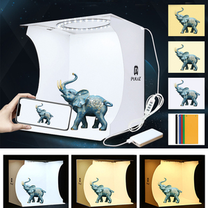 Image 2 - Mini boîte à photo pliante lumière photographie Studio caméra photo tir tente boîte Kit diffusion Studio lightbox pour appareil photo reflex numérique