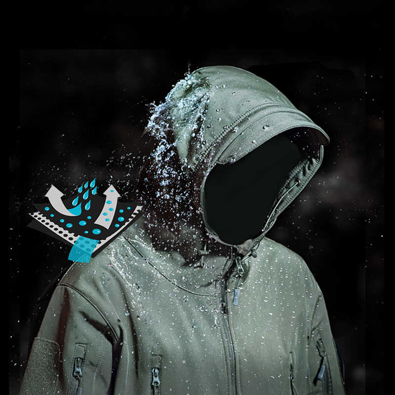 YEVHEV, cazadora de camuflaje con carcasa suave, chaqueta táctica militar para hombres, chaqueta táctica para hombres, ropa impermeable de lana del ejército para mujeres