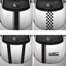 WRC – autocollants à rayures en vinyle, couverture de voiture, autocollants de sport, de course, de capot, de coffre de voiture, autocollant de décoration en vinyle étanche