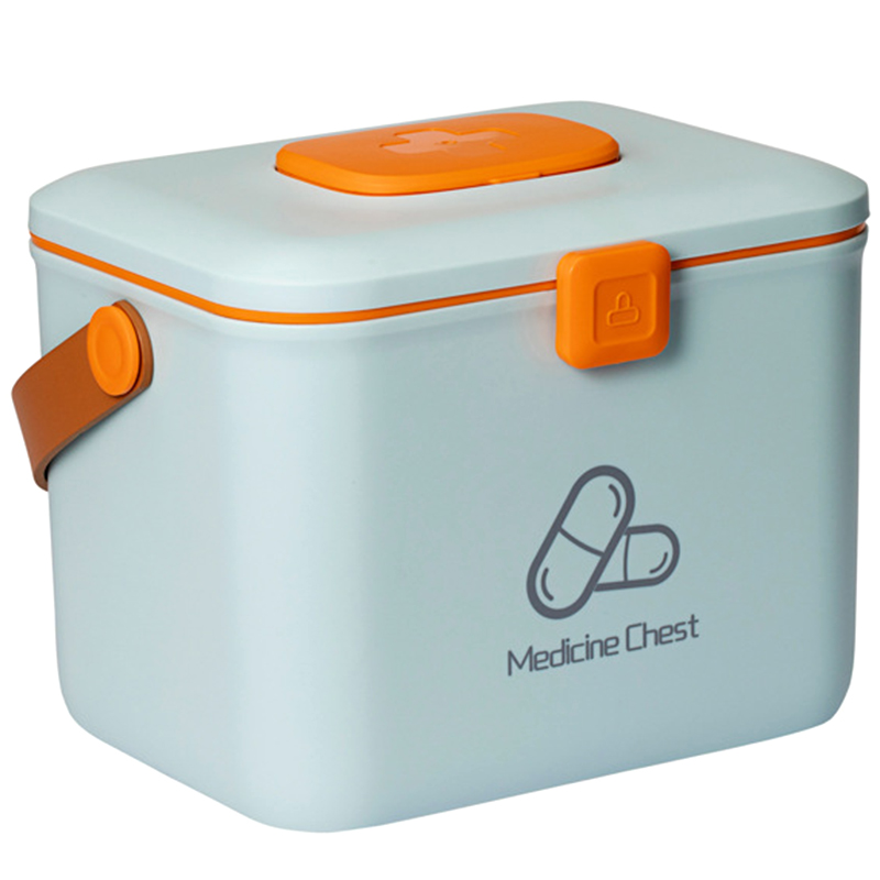 First Aid Kit Handle Medical Box Storage Box Medicine Chest Organizer First Aid Emergency Sundries Plastic Container