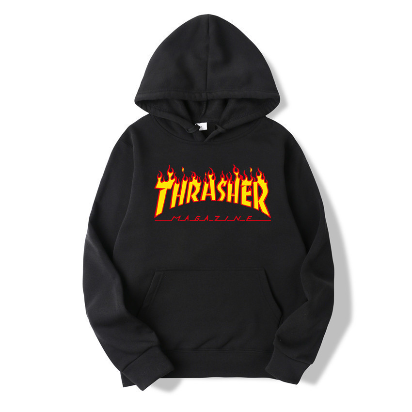 2019 New Style Spring And Autumn Clothes Thrasher Flame Men And Women Hoodie Couple's Hot Selling