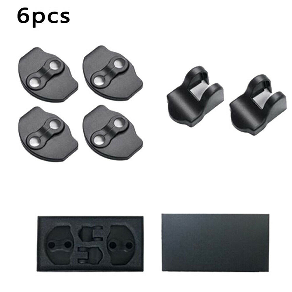 6pcs/set Anti Rust Protection Cap Auto Replacement Guard Durable Trim Car Door Lock Cover Styling Decoration For Tesla Model 3