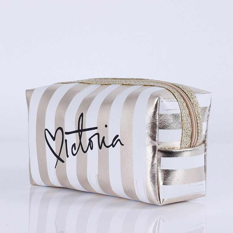 Bolsa de cosméticos de viaje para mujer, bolsas de maquillaje con láser rosa, neceser, caja de belleza, bolsa de maquillaje con cremallera, bolsa de almacenamiento