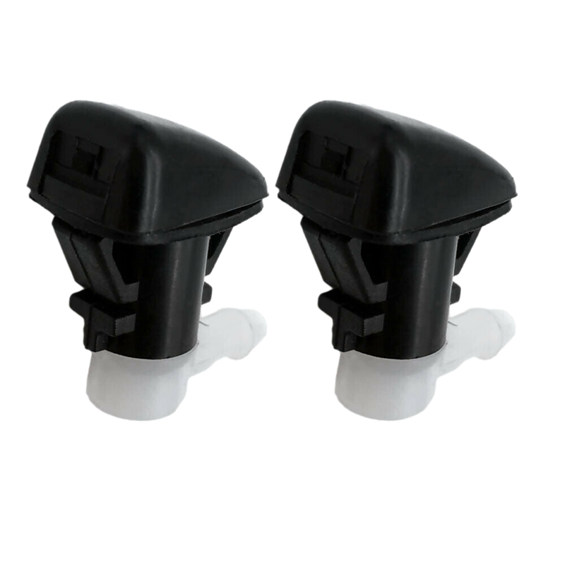 X AUTOHAUX 2pcs Black Plastic Front Windshield Wiper Nozzles 3W7Z17603AA for Ford Expedition