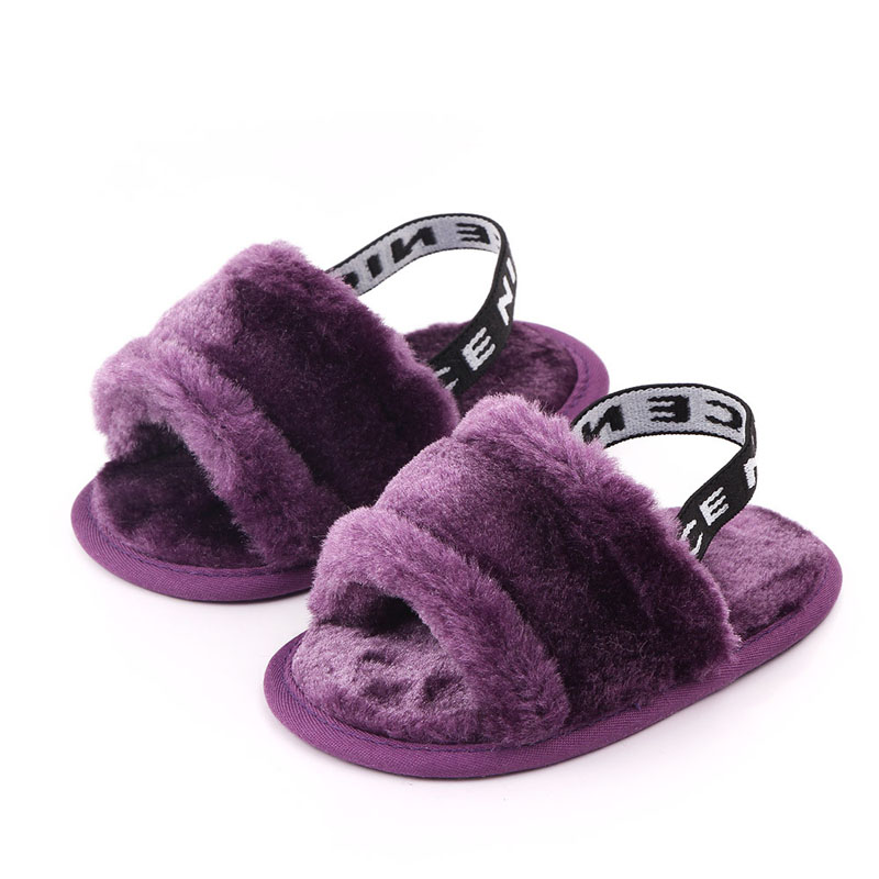 Fashion Summer Baby Shoes Baby Girl Sandals Soft Classic Breathable Baby Fur Shoes Simple Elastic Baby Sandals Princess