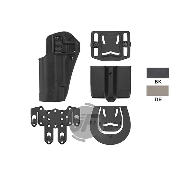 Tactical CQC Serpa Quick Left Hand Paddle Belt Loop Pistol Gun <font><b>Holster</b></font> w/ <font><b>MOLLE</b></font> Platform & Magazine Pouch For Colt <font><b>1911</b></font> M1911 image
