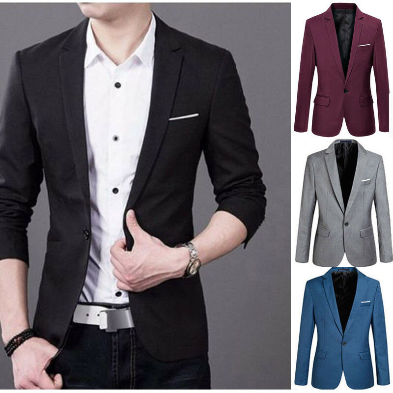 2019 Fashion Men's Smart Causal Suit Formal Fashion Occasion Tuxedos Suits Multiple Colors Work Business Tuxedo Jacket