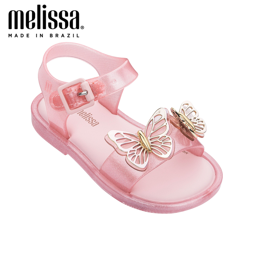 Mini Melissa Mar Sandal  Fly Girl Jelly Shoes Sandals 2020 Baby Shoes Melissa Sandals For Kids Non-slip Princess Beach Sandals