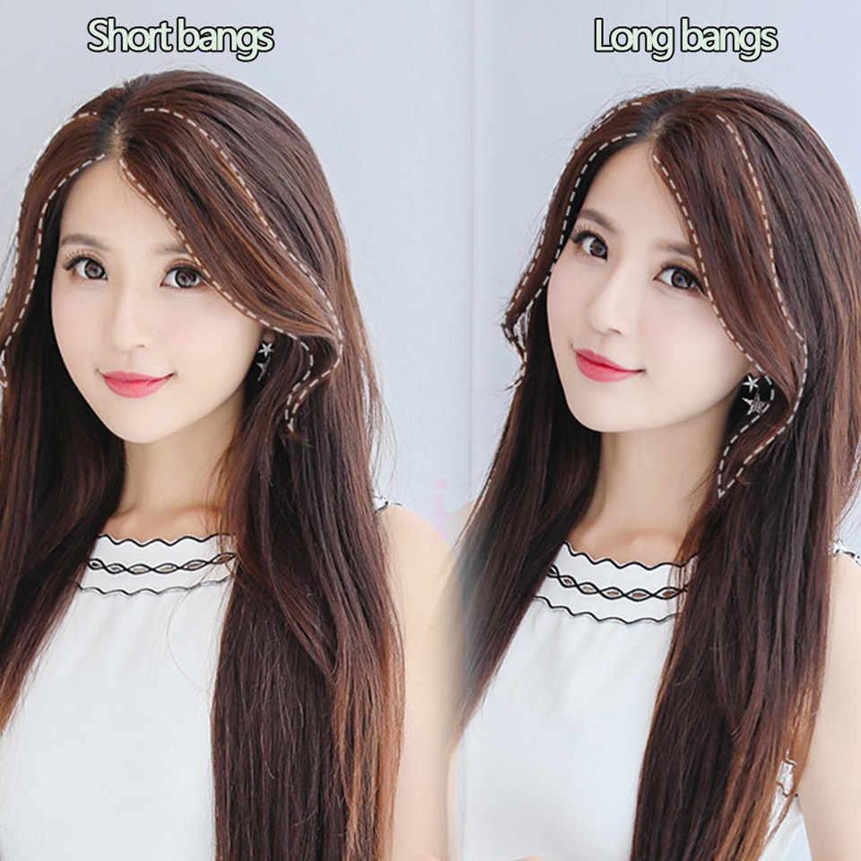 MUMUPI mujeres Natural corta peluca rizada flequillo lateral flequillo piezas de pelo falso peinados resistentes al calor peinados sintéticos para la cabeza