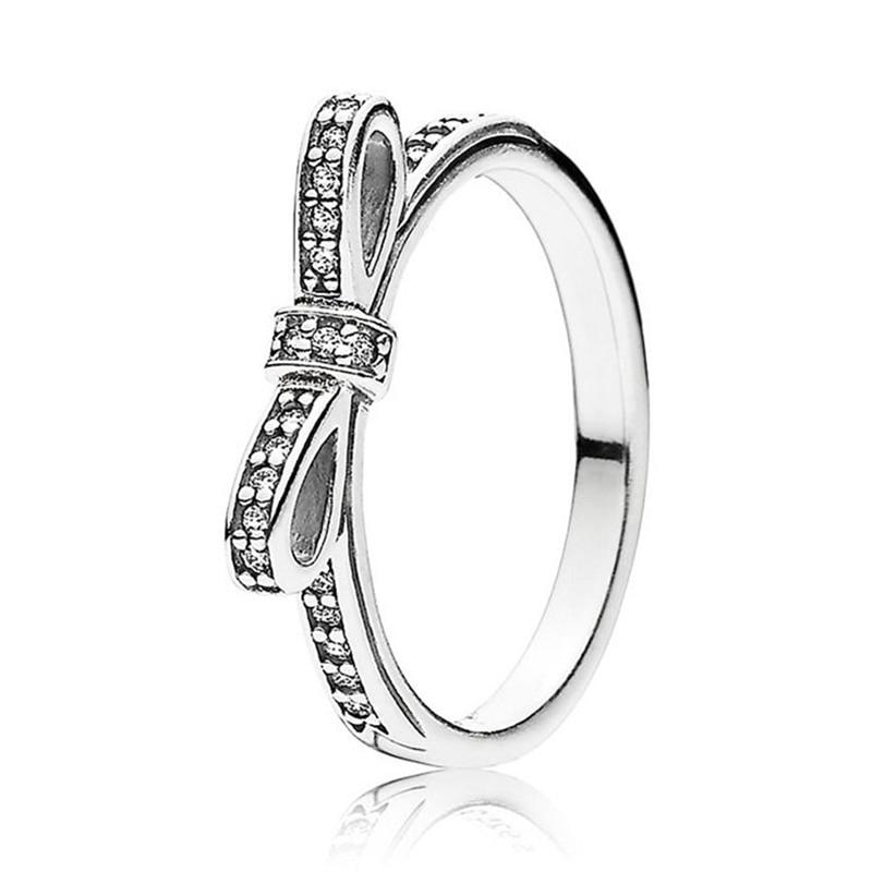 Кольцо на палец в форме сердечко серебряного цвета для женщин, европейская оригинальная Корона, изящные кольца на палец, свадебные украшения, 50 стилей, Прямая поставка - Цвет основного камня: Rings 026
