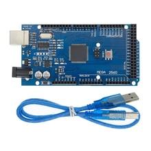 10sets Mega 2560 R3 Mega2560 REV3 10 stücke ATmega2560 16AU Bord + 10 stücke USB Kabel