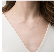 Laramoi 925 Sterling Silver Character X Necklace for Women 2019 New Fashion Trendy Elegant Gold Plated  Jewelry Gift Girls