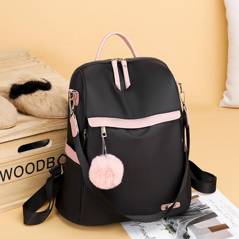 2020 Kawaii Women Backpacks Panelled Black Oxford Ladies Back Bag Pack Female Backbag Quality School Book Bags For Teenage Girls