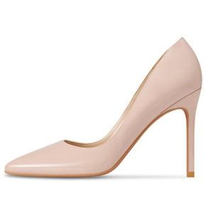 Image 4 - Marke Schuhe Frau High Heels Damen Schuhe 10CM Heels Pumps Frauen Schuhe High Heels Sexy Schwarz Beige Hochzeit Schuhe stiletto B 0043