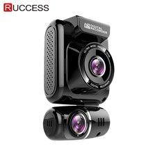 Ruccess cámara DVR con GPS para coche, lente Dual, cámara de salpicadero, Full HD, 2,0 P, cámara con grabadora para coche, visión nocturna de 1080 grados, g sensor WDR