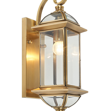 Garden gold outdoor lighting Fixtures retro H65 Copper Wall