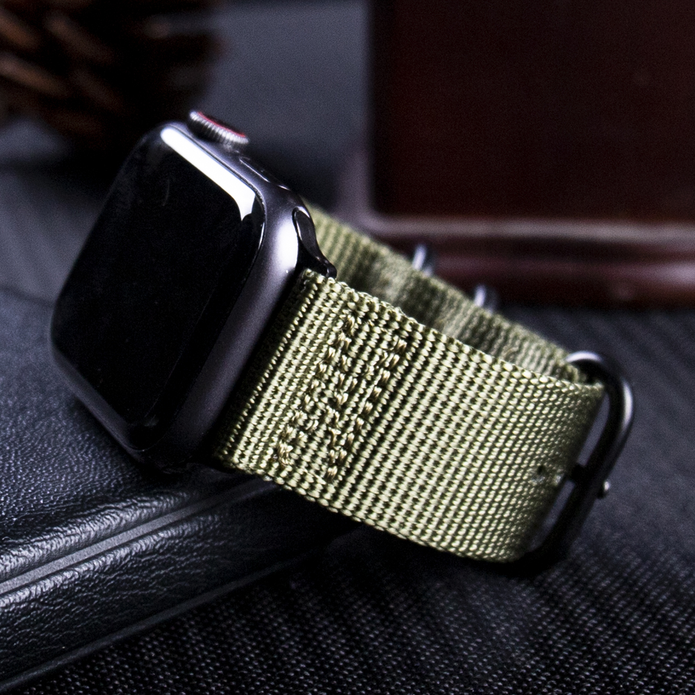 Nylon Apple Watch Band Watchband For Series 5 44mm 40mm Fabric-like Strap Iwatch 4/3/2/1 Suitable For 42mm 38mm Accessories