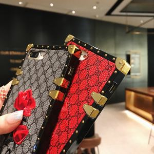 Image 5 - Luxury Square Embroidery Rose Phone Cases For Xiaomi Mi 10 Redmi 7 7A 8 8A 9 10x K20 Redmi Note 7 8 9 9T 9s PRO PU Leather Cover