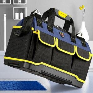 Image 5 - Alet çantası taşınabilir elektrikçi çantası çok fonksiyonlu onarım kurulum tuval büyük kalınlaşmak alet çantası iş cep