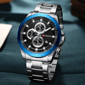 Image 3 - CURREN New Arrival Causal Style Auto Date Sporty Watches Men Business Quartz Wristwatch Stainless Steel Band Relogio Masculino
