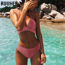 RUUHEE комплект бикини, купальник, женский купальник, бикини, сексуальная летняя пляжная одежда, Мягкий купальный костюм, пуш-ап, 2021, купальный ...