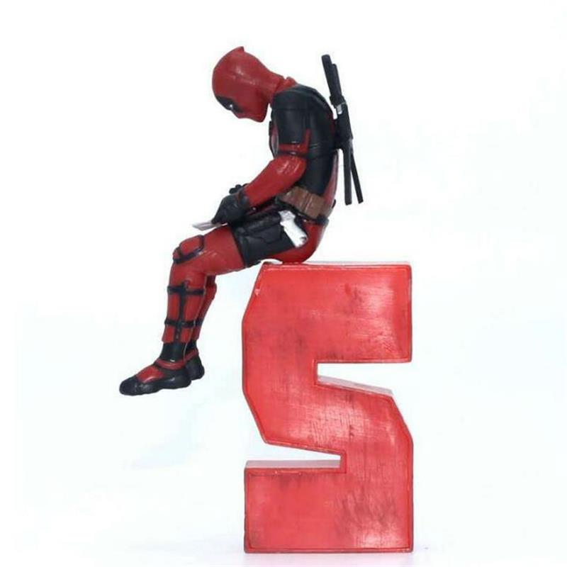 Marvel X Men Deadpool 2 Figure Super Hero Deadpool PVC Action Figure Collectible Model Kids Toys Home Decoration Doll in Action Toy Figures from Toys Hobbies