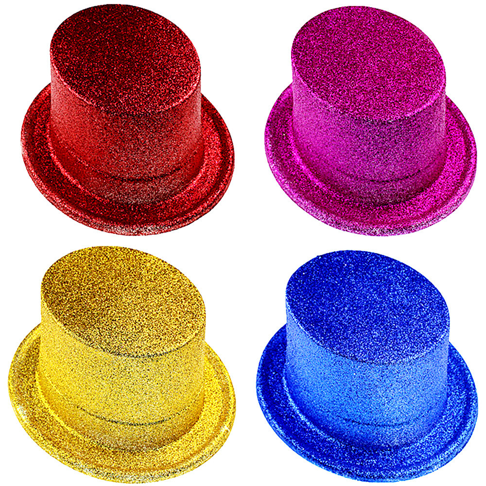 1pc Halloween Hat Performance Props For Magic Show Party High Jazz Hat  Lincoln Hat  Multicolor