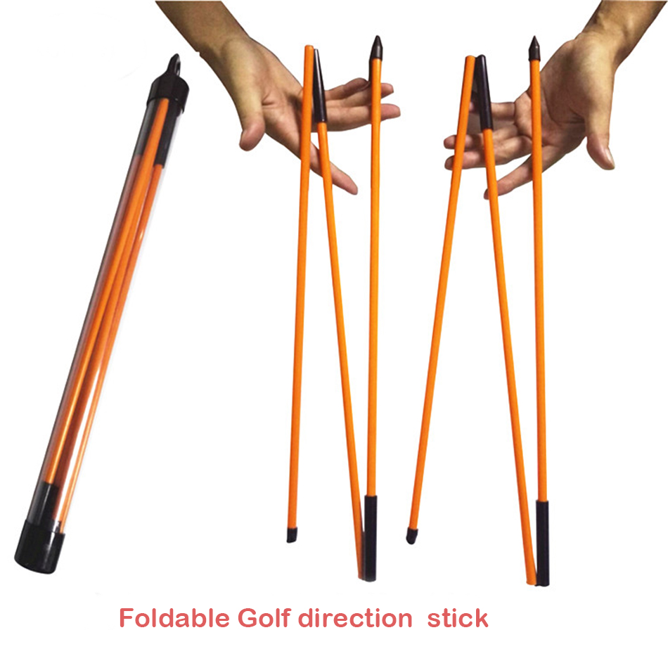 Golf Swing Trainer Foldable Direction Stick Sequipment Outdoor Sports Golf Alignment Sticks Golf Trainer