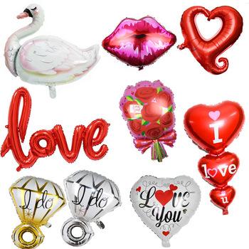 Balony weselne folia pan młody panna młoda miłość balon na dekoracje ślubne wieczór panieński walentynki impreza dla dorosłych dostaw tanie i dobre opinie ZQNYCY Serce Folia aluminiowa Ślub i Zaręczyny Party Ballon ZY602