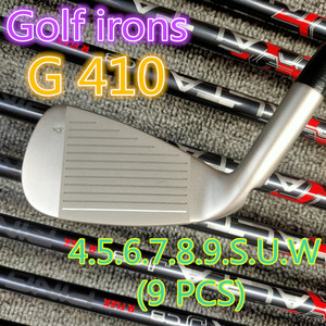 Brand New G410 Irons G410 Golf Iron Set G410 Golf Clubs 4-9SUW(9PCS) Steel/Graphite Shaft with Head Cover