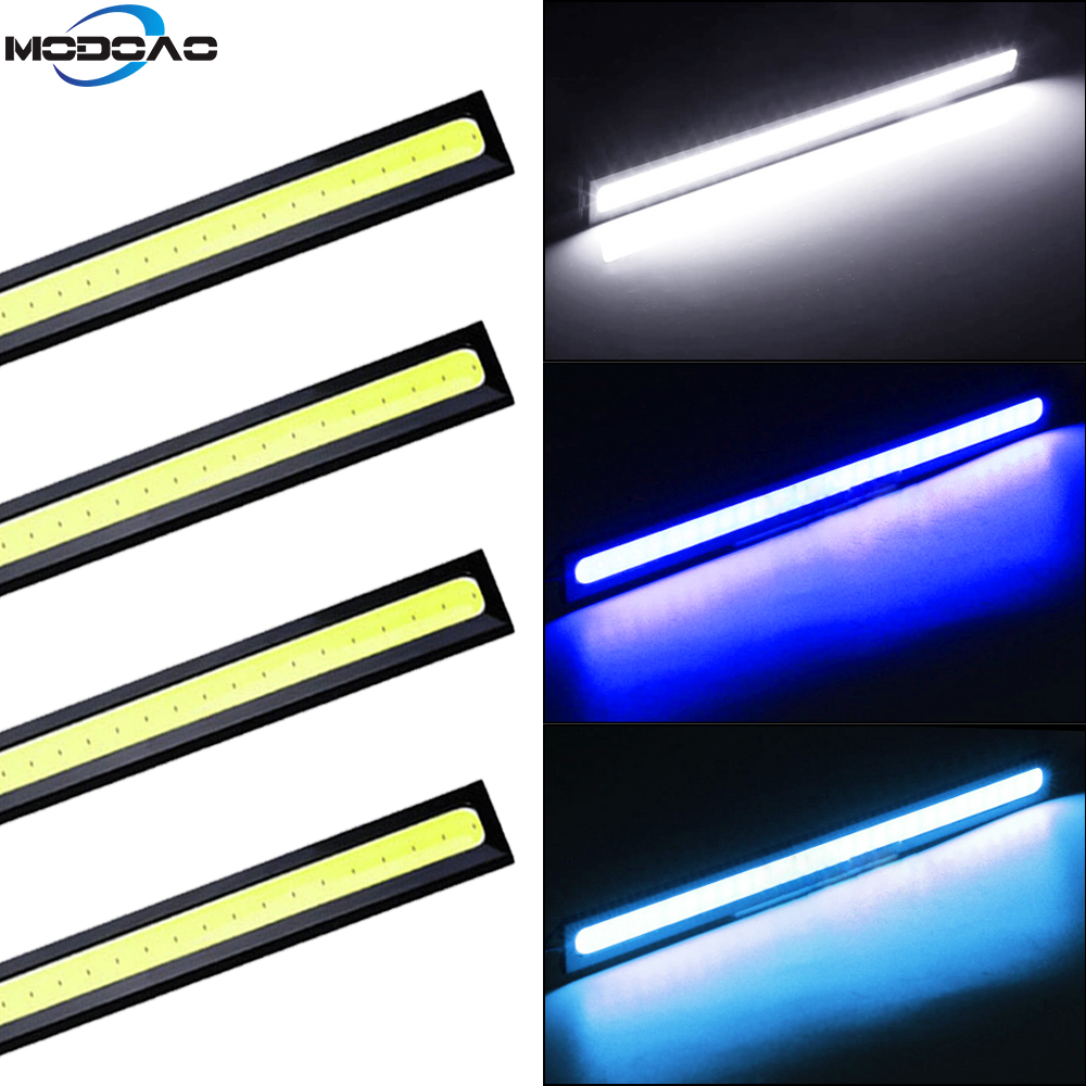 2/4PCS COB DRL Fog Lamp 17cm Universal Daytime Running Light Drl LED Car External Light Auto Waterproof Car Styling Led DRL Lamp