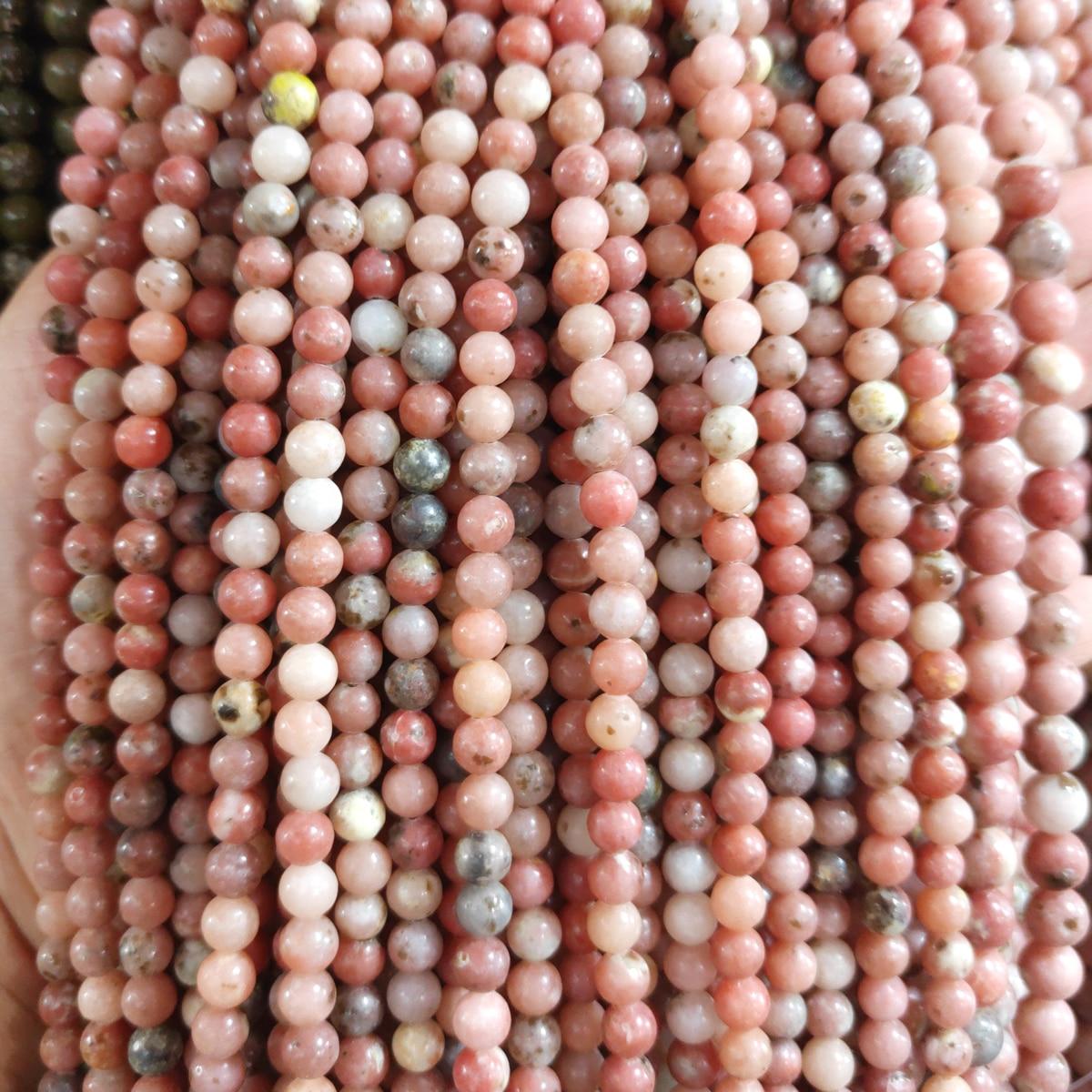 Cuentas de piedra Natural 4/6/8/10/12mm cuentas redondas sueltas para hacer joyas collar DIY pulseras Accesorios