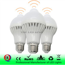 3W, 5 Вт, 7 Вт, 9 Вт, 12 Вт, E27, 220 В, светодиодный светильник, умный звук/PIR датчик движения, светодиодный светильник, индукционный светильник для лестницы, коридора, Ночной светильник, белый цвет