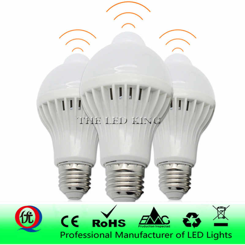 3W 5W 7W 9W 12W E27 220V LED Bulb Smart Sound / PIR Motion Sensor LED lamp light Induction Stair Hallway Night light white