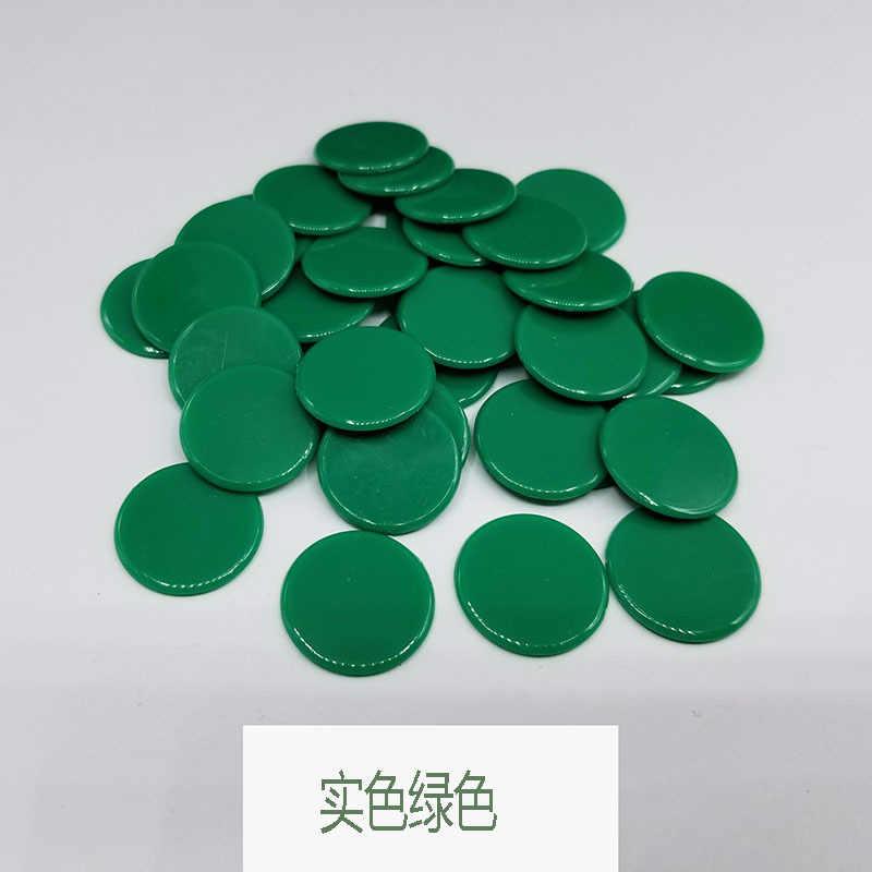 100 pçs/set 4 cores 19mm presente criativo acessórios de plástico fichas poker casino bingo marcadores token divertido clube da família jogo brinquedo