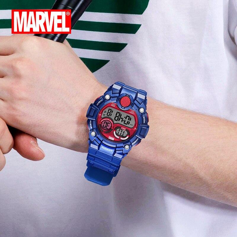 Мужские спортивные часы, двойной дисплей, аналоговый цифровой светодиодный, электронные кварцевые наручные часы, водонепроницаемые, 50 м, ал... - 5