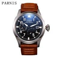 Parnis 47mm Automatic Mechanical Men Watch Power Reserve Pilot Men's Watches Calendar Man Clock 2019 erkek kol saati mens gift