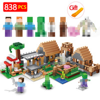 838pcs The Farm Cottage Building Blocks Compatible legoing Minecrafted House Figures Bricks Sets Toys For Kids Brithday Gifts