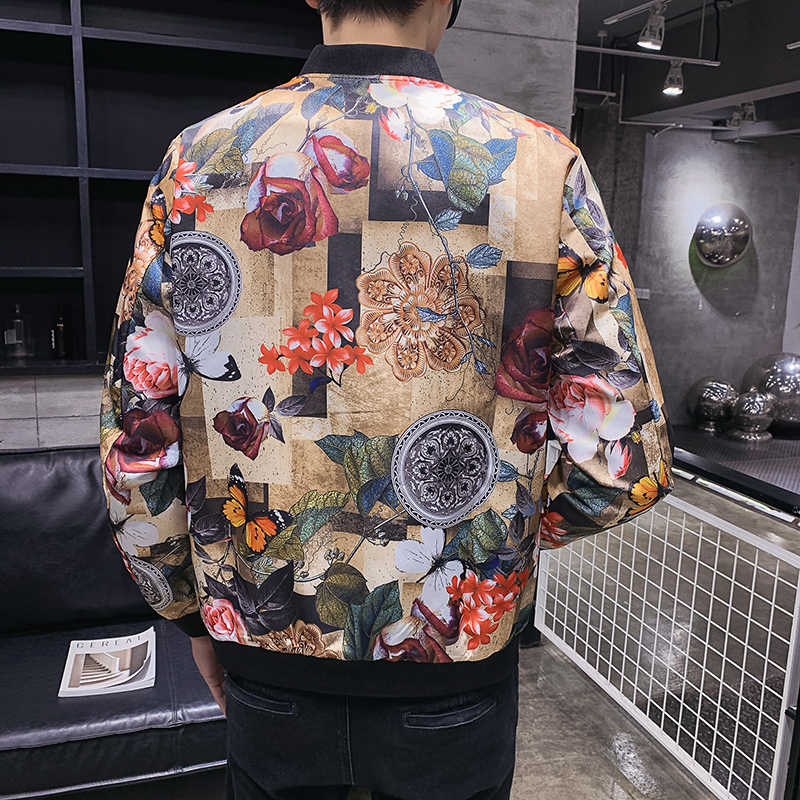 Designer Bomber Party Club Outfit Men Oversize 5xl Mens Pattern Classic 2020 Spring Fashion Print Male Jacket
