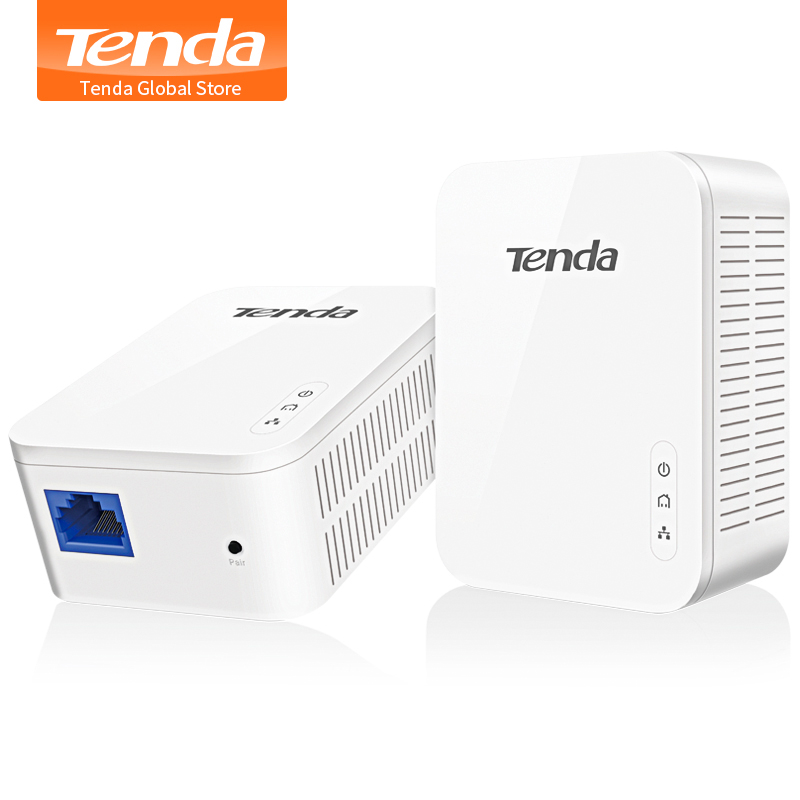 Tenda PH3 Gigabit 1000Mbps Adattatore di Rete Powerline, Plug and play,AV1000 Ethernet PLC Adattatore, alta Compatibile con IPTV title=