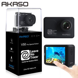AKASO V50 Pro SE Action Camera Leave No Trace Special Edition Touch Screen 4K60 Waterproof Camera Sports Cam EIS Remote Control