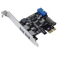 Pci-E к Usb3.0 плата расширения Pci Express адаптер конвертер карты передний интерфейс расширения Модуль питания для настольного ПК