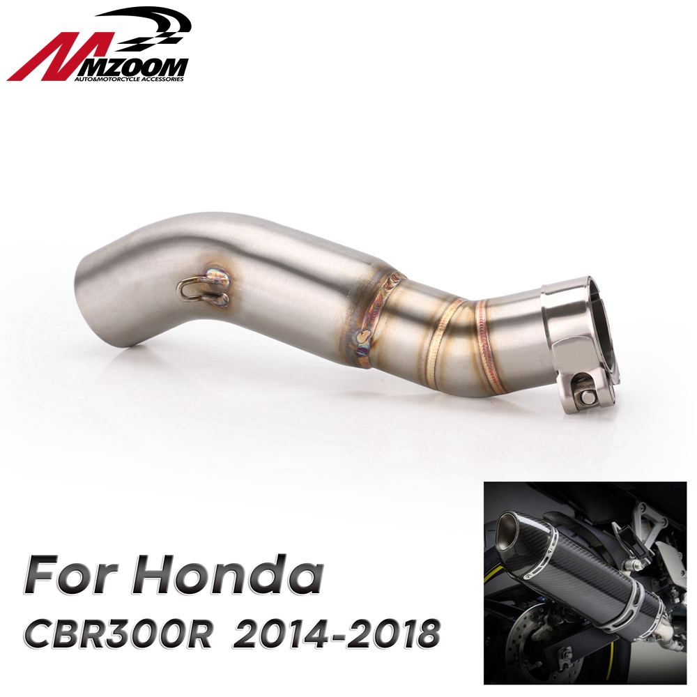 Link-Pipe Exhaust-Muffler Motorcycle-Middle-Pipe CB300F Slip-On-Section CBR300R Honda