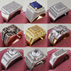 Luxury Vintage 925 Sterling Silver Men's Rings for Men Man Male Wedding Engagement Big Jewelry Wholesale Drop Shipping Z20