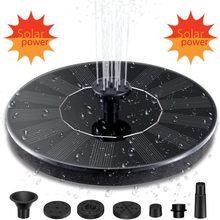 4 bocais mini fonte de água de energia solar fountain fountain о para o banho de aves fonte livre pé painel solar kit água flutuante jardim decorações