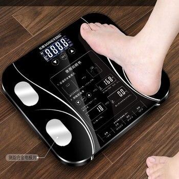 Báscula de peso corporal recargable por USB báscula de peso balanza electrónica de medición de grasa balanza de precisión corporal versión china