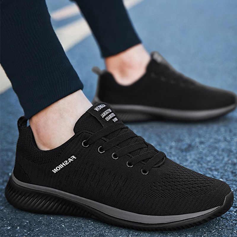 Erkekler Saf Renk Modelleri Nefes Sneakers Gençlik Moda Rahat Hommes Işık rahat ayakkabılar Adulte Chaussures Damla Nakliye
