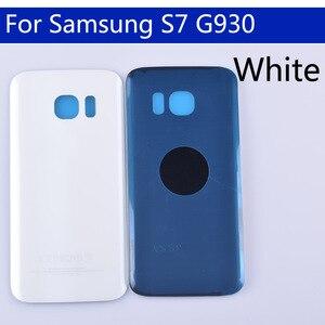 Image 4 - 10Pcs dużo S7 tylna pokrywa baterii do Samsung Galaxy S7 G930 G930F G930A SM G930L tylna obudowa baterii przypadku drzwi wymiana części