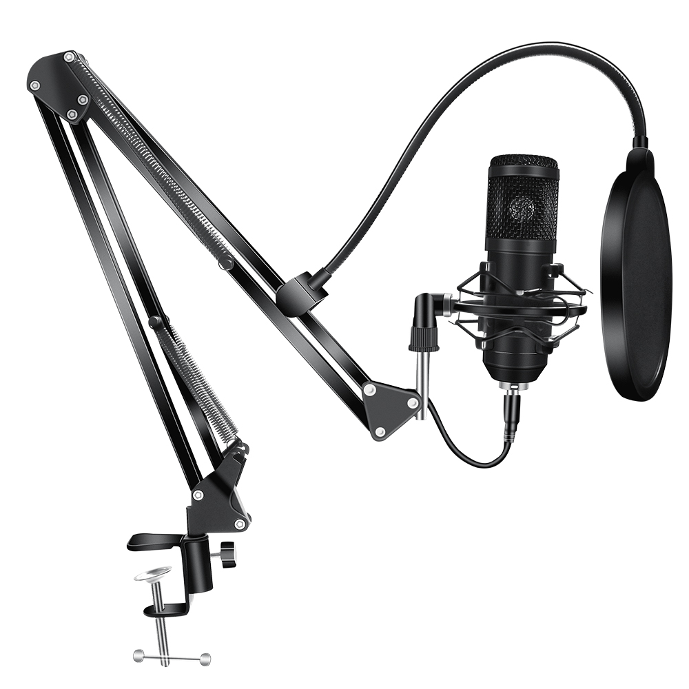 192KHz 24Bit BM800 Condenser Microphone Kits USB for Computer Karaoke Microphone for Sound Studio Recording Microfone Gamer